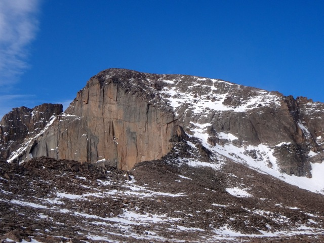 The Diamond and the north face of Longs Peak this weekend.