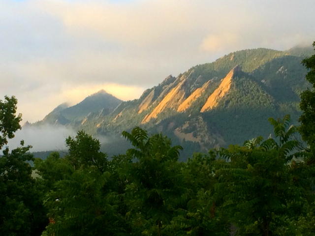 Sometimes even my bedroom window in Boulder offers a pretty nice view.