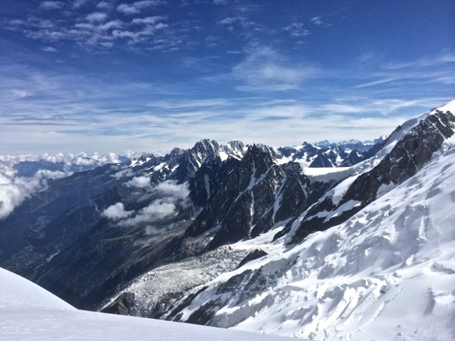 View from Gouter nearly 10k' back down to Chamonix.