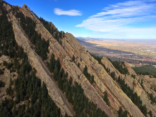 The five ridges of Skunk Canyon.